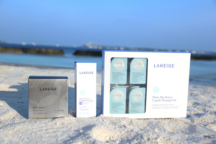Laneige Travels with me to the Maldives