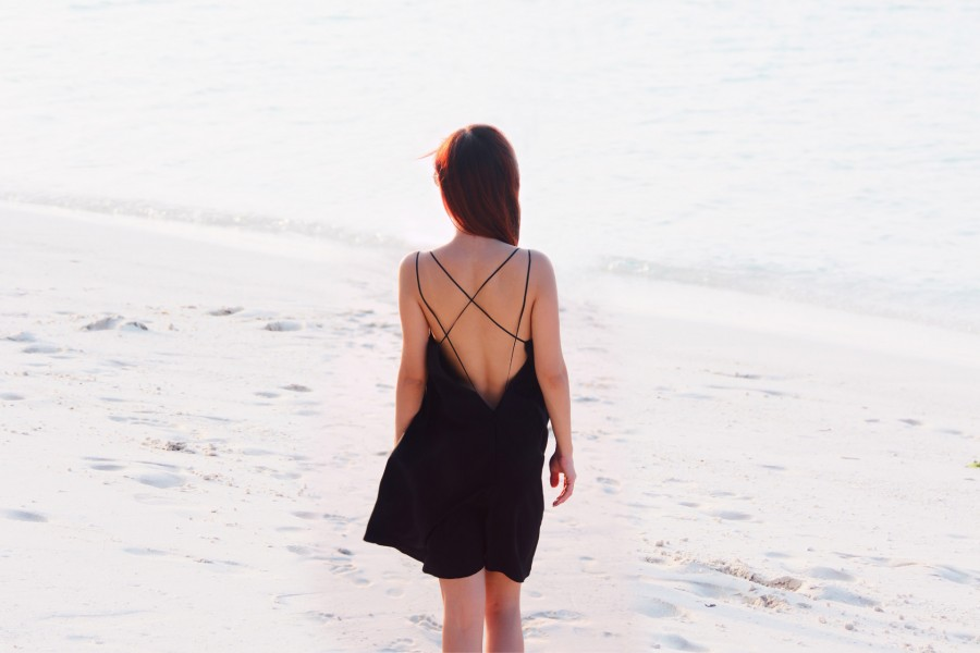 {#OOTD} Low Back Black Dress