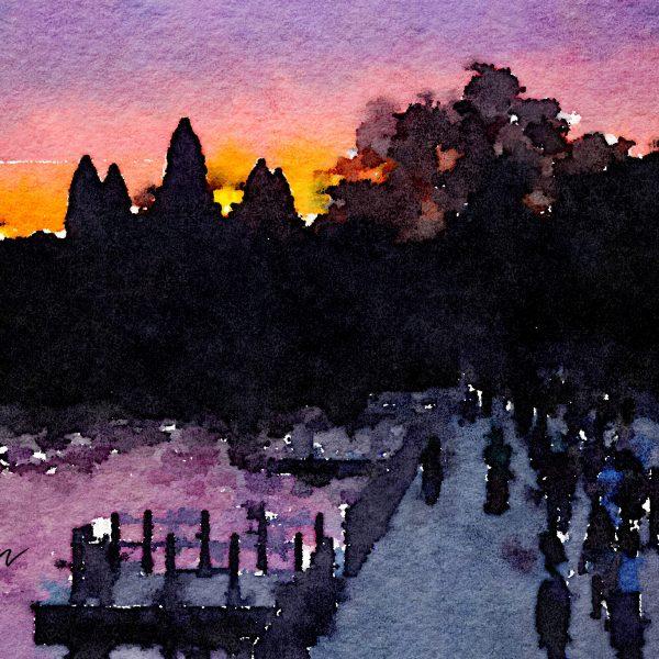 Angkor Wat Water color